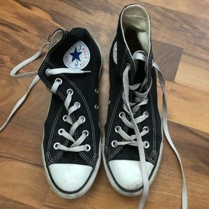 Converse high top shoes. Size 8